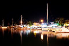 Selimiye marina by night Royalty Free Stock Image