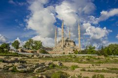 Selimiye moské i Edirne royaltyfria bilder