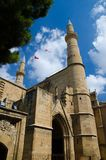 Selimiye moské, St Sophia Cathedral, Nicosia, Lefcosa, Cypern royaltyfria bilder