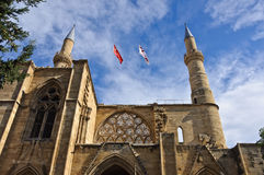 Selimiye Mosque. Former Saint Sophia Cathedral. Nicosia, Northern Cyprus Royalty Free Stock Photos