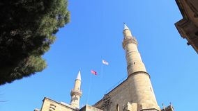 Selimiye Mosque. A call to prayer at Selimiye Mosque in Nicosia in the Turkish Republic of Northern Cyprus stock video footage