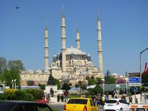 Selimiye Mosque in Edirne Turkey. Edirne, Turkey - April, 26 2015: The Ottoman sultan II. Mimar Sinan mosque built by Sultan Selim. Mimar Sinan, 90 ( 80 in some stock photography