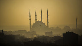 Selimiye Mosque in Fog Royalty Free Stock Images