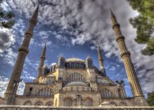 The Selimiye Mosque in HDR Stock Image