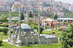 Selimiye Mosque Model And Tourists Royalty Free Stock Photography