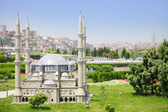 Selimiye Mosque model in Miniaturk Museum Stock Photography