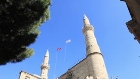 Selimiye Mosque. In Nicosia in the Turkish Republic of Northern Cyprus stock video