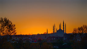 Selimiye Mosque in Sunrise HDR Stock Images