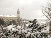 Selimiyebarakken in de winter, Istanboel, Turkije Stock Foto