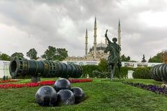 Selimiyemoskee en monument van Ottomane Sultan Mehmed II Mehmed de Veroveraar in stad van Edirne Stock Foto's
