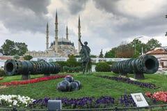 Selimiyemoskee en monument van Ottomane Sultan Mehmed II Mehmed de Veroveraar in stad van Edirne Royalty-vrije Stock Foto's