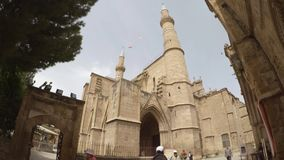 Selimiyemoskee in Nicosia stock videobeelden