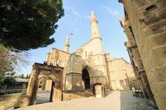 Selimiyemoskee, vroegere Heilige Sofia Church, Nicosia, Cyprus stock foto's