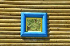 Selina, Croazia, mare adriatico, finestra di legno immagini stock libere da diritti