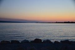 Selina, Croazia, mare adriatico, tramonto Fotografia Stock Libera da Diritti