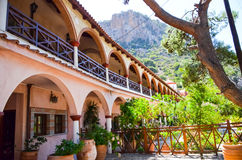 Selinari monastery is located in the picturesque island of Crete Stock Image