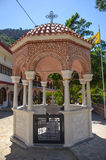 Selinari monastery is located in the picturesque island of Crete Royalty Free Stock Photo