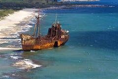 Selinitsa beach near Gytheio, Greece royalty free stock photo