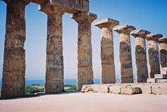 Selinunte的柱廊 免版税库存照片