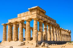 Selinunte,意大利西西里岛考古学站点上城  免版税库存图片