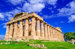 Selinunte, αρχαίος ναός στη Σικελία, Ιταλία στοκ εικόνες με δικαίωμα ελεύθερης χρήσης