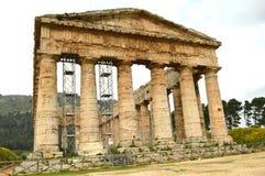 Selinunte -意大利01的寺庙的谷 库存图片