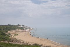View of Marinella di Selinunte stock photo