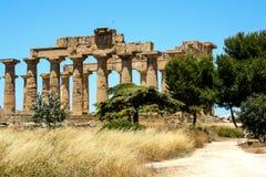 Selinunte - la Sicilia - l'Italia - tempie greche Immagini Stock Libere da Diritti