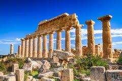 Selinunte, Sicilië, Italië stock afbeeldingen