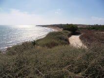 Selinunte strand Arkivbilder