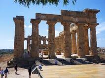 Selinunte - tempel av Hera Royaltyfri Bild