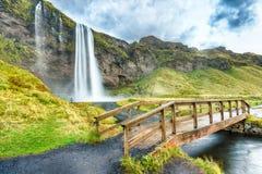 Seljaland siklawa, Iceland Obrazy Royalty Free
