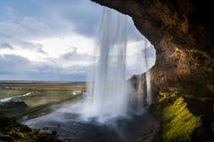 Seljaland siklawa, Iceland Fotografia Royalty Free