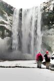 Seljalandfoss瀑布 库存图片