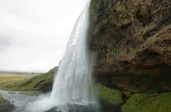 Seljalandfoss vattenfall Arkivbild