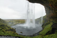 Seljalandfoss vattenfall Arkivfoton