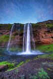 Seljalandfoss waterfall. Royalty Free Stock Photos