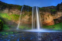 Seljalandfoss waterfall. Royalty Free Stock Photography