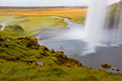 Seljalandfoss Waterfall, Iceland Stock Photo