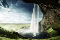 Seljalandfoss waterfall in summer time Stock Image