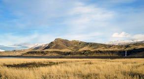 Seljalandsfoss瀑布冰岛 免版税图库摄影