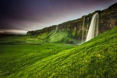 Seljalandsfoss瀑布 免版税图库摄影