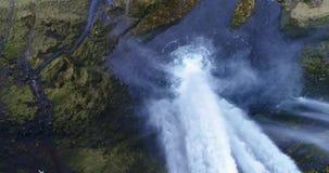 Seljalandsfoss瀑布UHD 4K寄生虫冰岛 股票录像