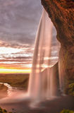 Seljalandsfoss. Is one of the most beautiful waterfalls on the Iceland. It is located on the South of the island. This photo is taken during the incredible royalty free stock photo