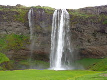 Seljalandsfoss. Is a beautiful waterfall in Iceland. During the summer, people can trek behind it Stock Photo