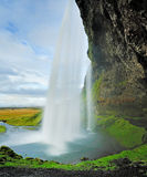 Seljalandsfoss, Beautiful waterfall in Southern Iceland near Eyj Stock Images