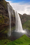 Seljalandsfoss. Beautiful waterfall in Southern Iceland. Royalty Free Stock Photo