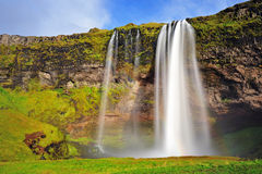 Seljalandsfoss, famous waterfall in Iceland Stock Images