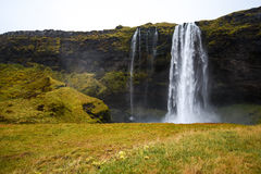 Seljalandsfoss, famous waterfall in Iceland Royalty Free Stock Photography