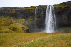 Seljalandsfoss, famous waterfall in Iceland Royalty Free Stock Image